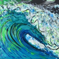 Digital Wave painting