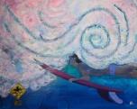 30''x24''Acrylic on canvas